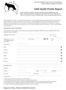 health profile form