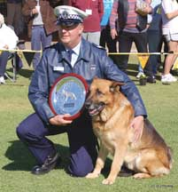 PD Cody with his Award
