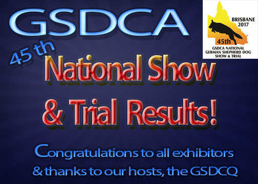 2017 National Show and Trial results